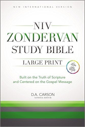 NIV Study Bible Large Print Hardback (New International Version)