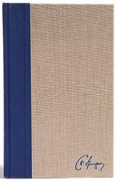 KJV SPURGEON STUDY BIBLE NAVY/TAN CLOTH-OVER-BOARD