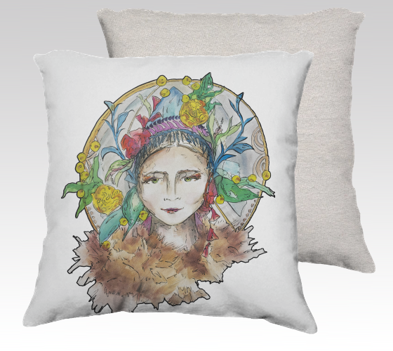 Russian Headdress Pillow