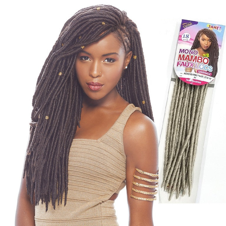 Janet Collection Pre Loop Crochet Braid Mono Mambo Faux Locs 18