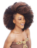 Janet Collection SYNTHETIC HAIR BRAIDS - NOIR 2X Afro Kinky Bulk 24""