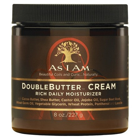 As I Am - DOUBLEBUTTER CREAM Rich Daily Moisturizer 8oz
