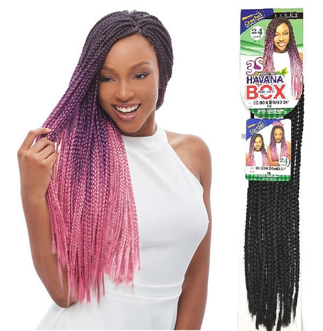 Janet Collection Pre Loop Crochet Braid 3s Havana Box Braid 24