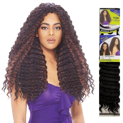 Janet Collection CROCHET BRAID - Deep Twist Braid 24""
