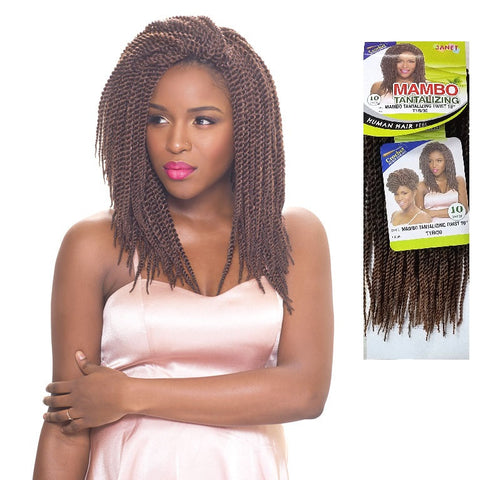 Janet Collection PRE-LOOP CROCHET BRAID - Mambo Tantalizing Twist 10""
