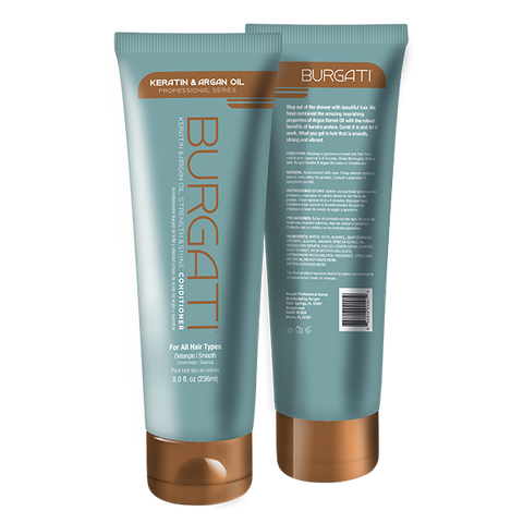 BURGATI - Keratin & Argan Oil Professional Conditioner 8oz