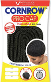 Vivica Fox Collection - CORNROW PRO CAP with Comb-HORSESHOE