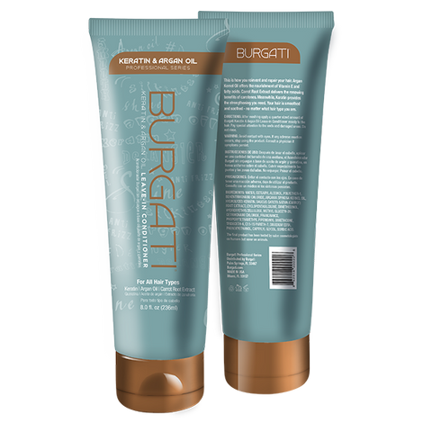 BURGATI - Keratin & Argan Oil Professional Leave-in Conditioner 8oz