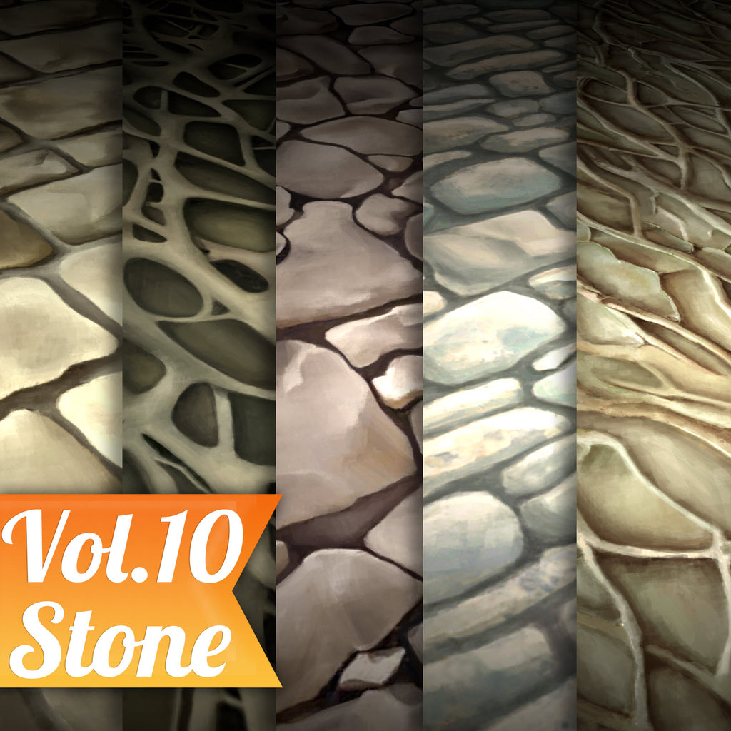 Stone Vol.10 - Hand Painted Texture Pack