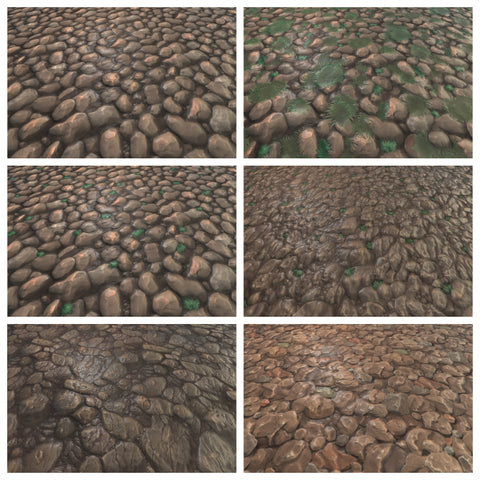 Texture Set Vol.1 Hand Painted Rock Normal Map