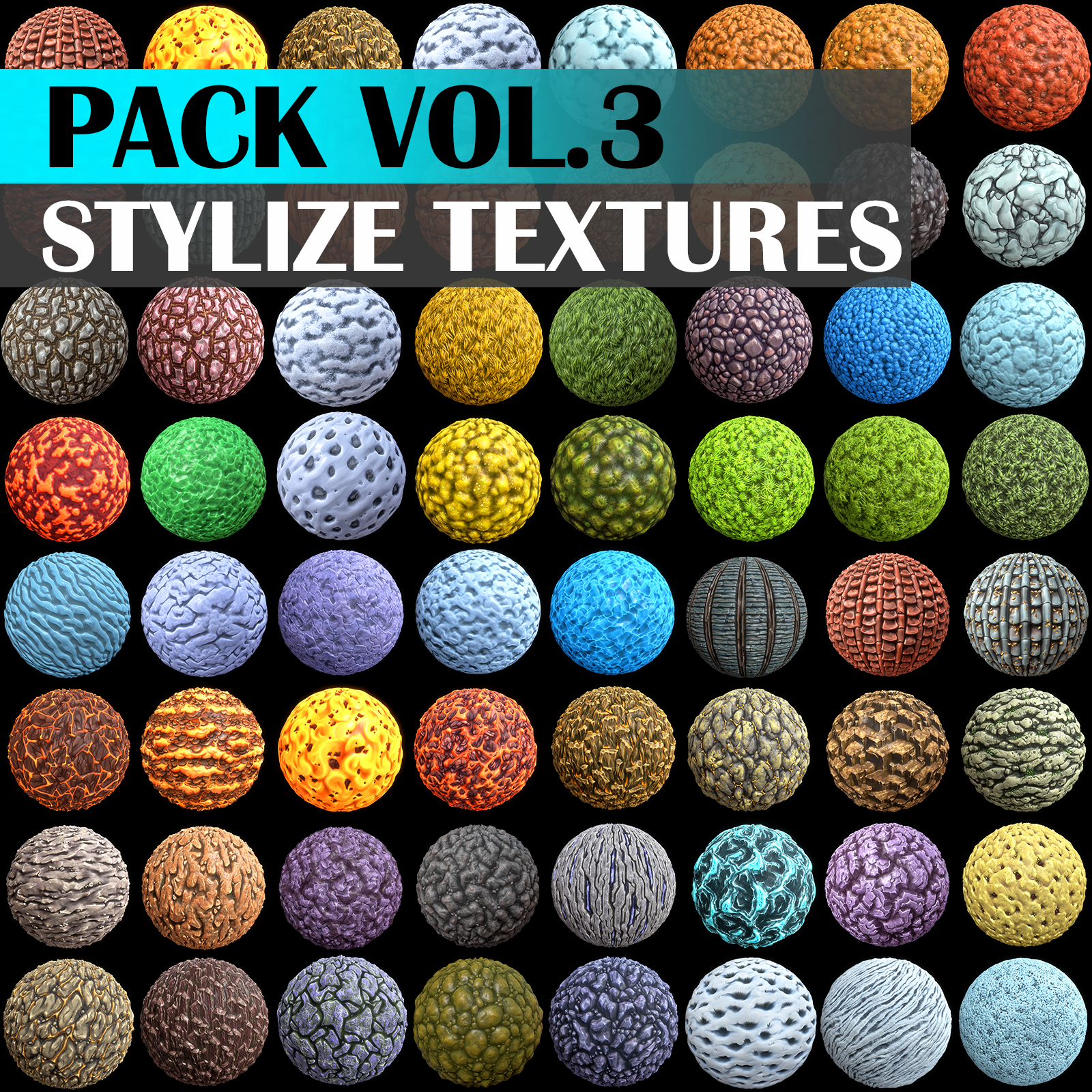 Stylized Texture Pack - VOL 3 - LowlyPoly