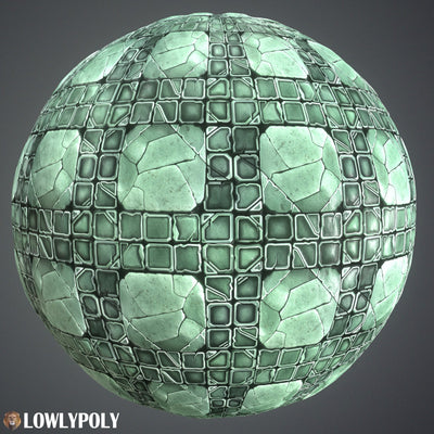 Tile Vol.54 - Game PBR Textures - LowlyPoly