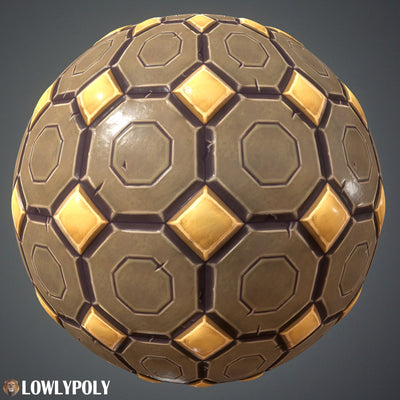 Tiles Vol.67 - Game PBR Textures - LowlyPoly