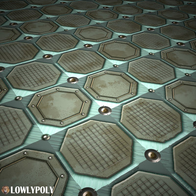 Scifi Vol.83 - Game PBR Textures - LowlyPoly