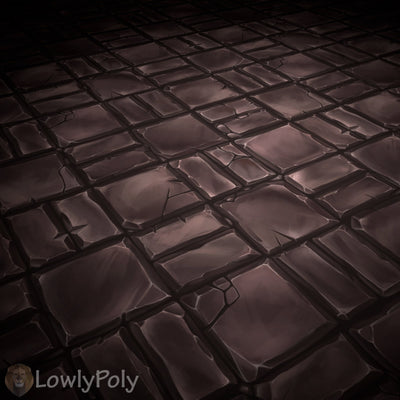 Stone Tile Vol.07 - Hand Painted Texture Pack - LowlyPoly