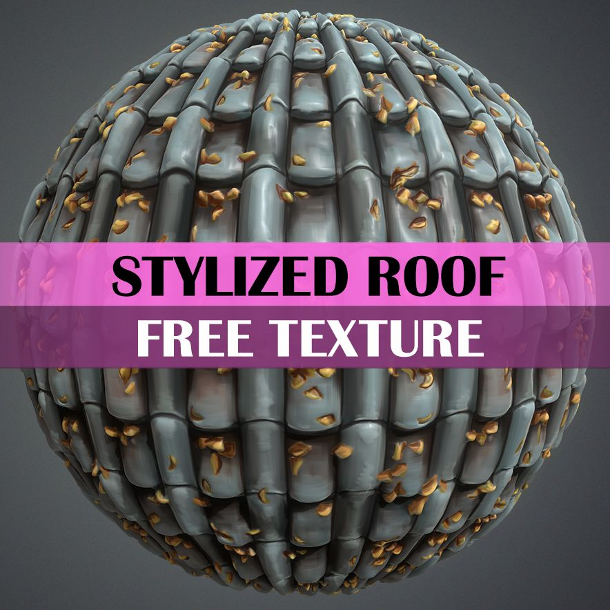 Stylized Roof Texture - LowlyPoly