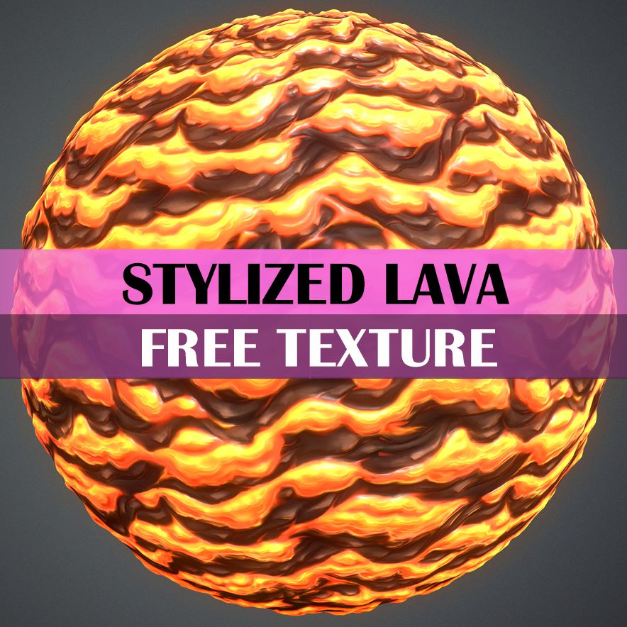 Stylized Lava Texture - LowlyPoly