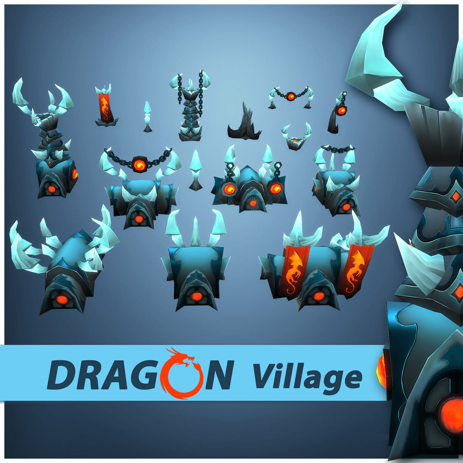 Dragon Village RTS Buildings - LowlyPoly