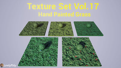 Grass Vol.17 - Hand Painted Texture Pack - LowlyPoly