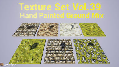 Ground Mix Vol.39 - Hand Painted Texture Pack - LowlyPoly