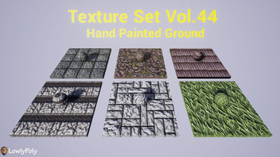 Mix Vol.44 - Hand Painted Texture Pack - LowlyPoly