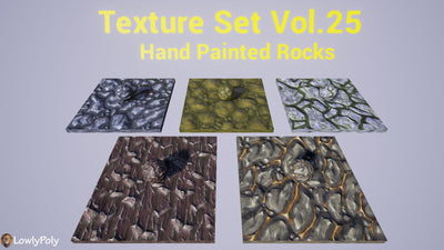 Rocks Vol.25 - Hand Painted Texture Pack - LowlyPoly