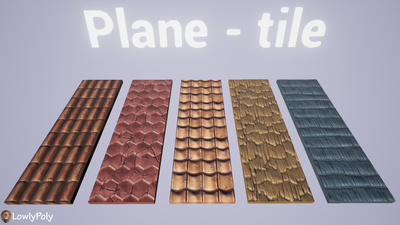 Roof Tile Vol.05 - Hand Painted Texture Pack - LowlyPoly