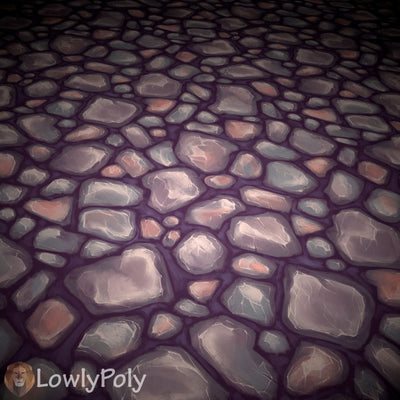 Ground Mix Vol.23 - Hand Painted Textures - LowlyPoly