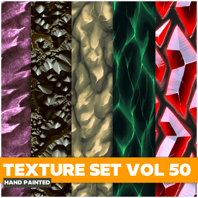 Mix Vol.50 - Hand Painted Textures - LowlyPoly