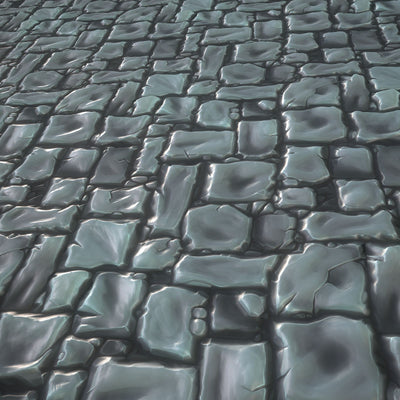 Hand Painted Stone Texture - LowlyPoly