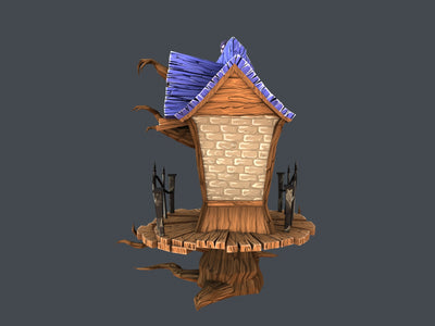 Stylized Creepy House