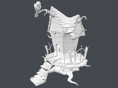 Stylized Creepy House - LowlyPoly