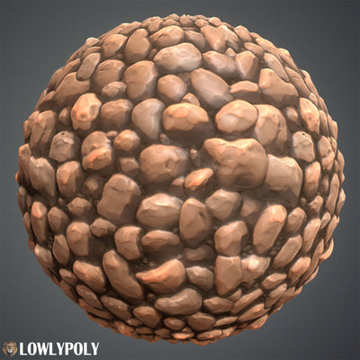 Rocks Vol.01  - Hand Painted Textures - LowlyPoly