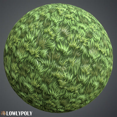 Grass Vol.42 - Hand Painted Texture Pack - LowlyPoly