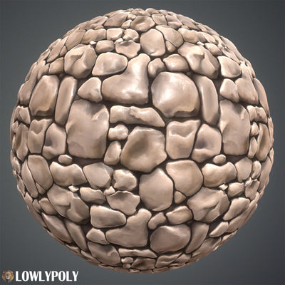 Stone Vol.10 - Hand Painted Texture Pack - LowlyPoly