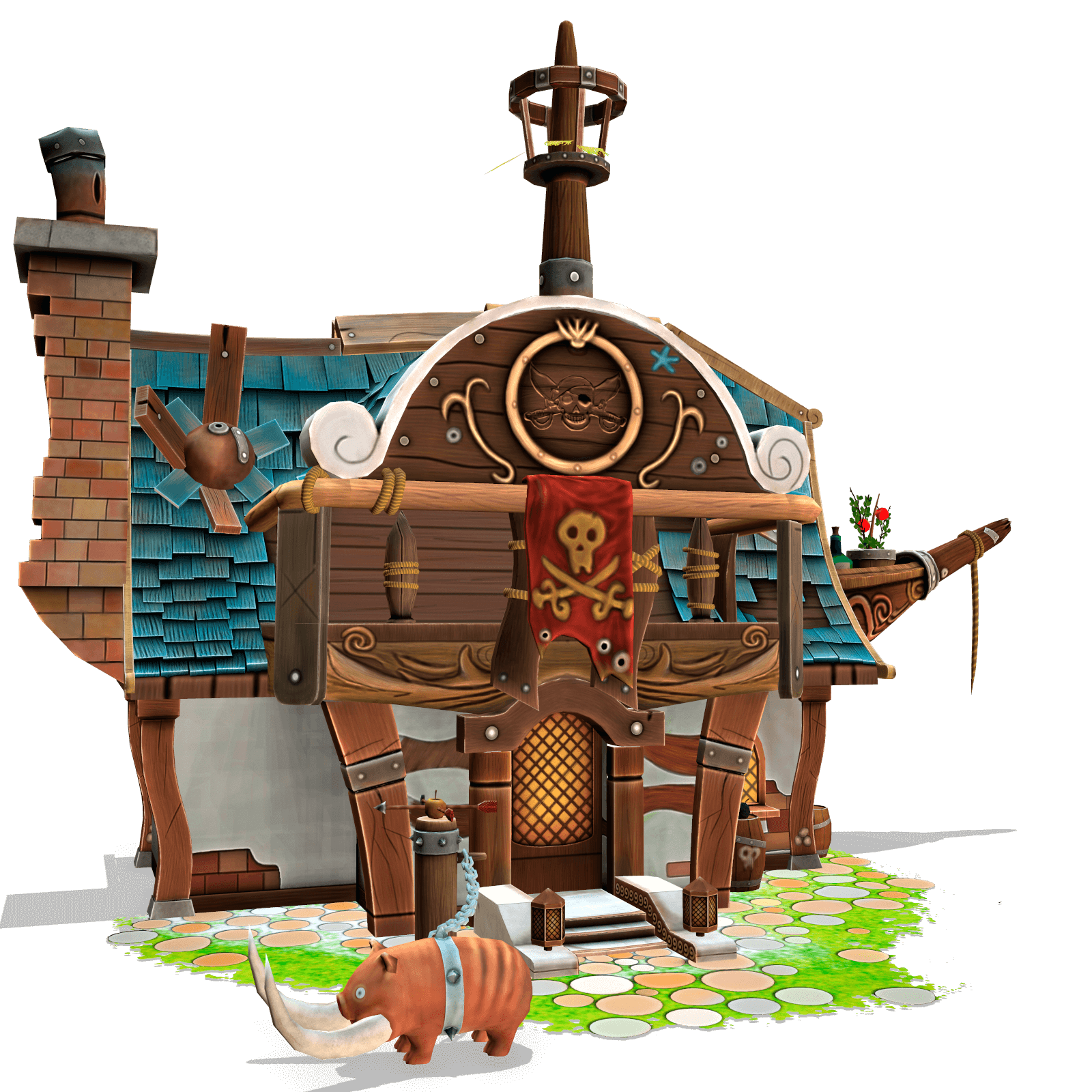 Stylized Pirate House - LowlyPoly