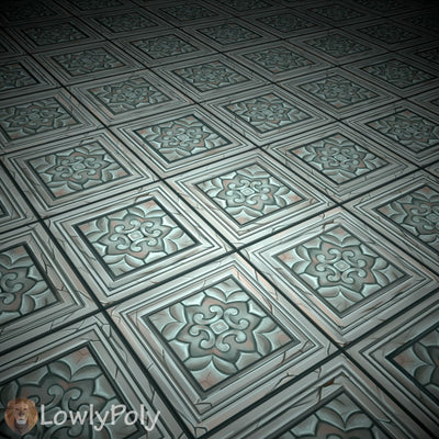 Stylized Tile Texture - LowlyPoly