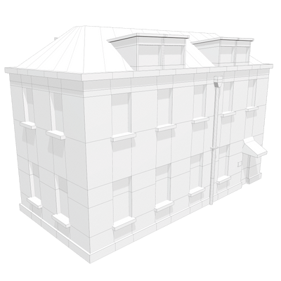 Realistic Building Apartment 2 - LowlyPoly
