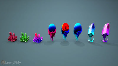 Stylized Crystal Pack - LowlyPoly