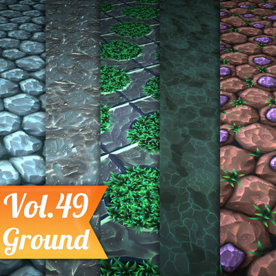 Ground Vol.49  - Hand Painted Textures - LowlyPoly