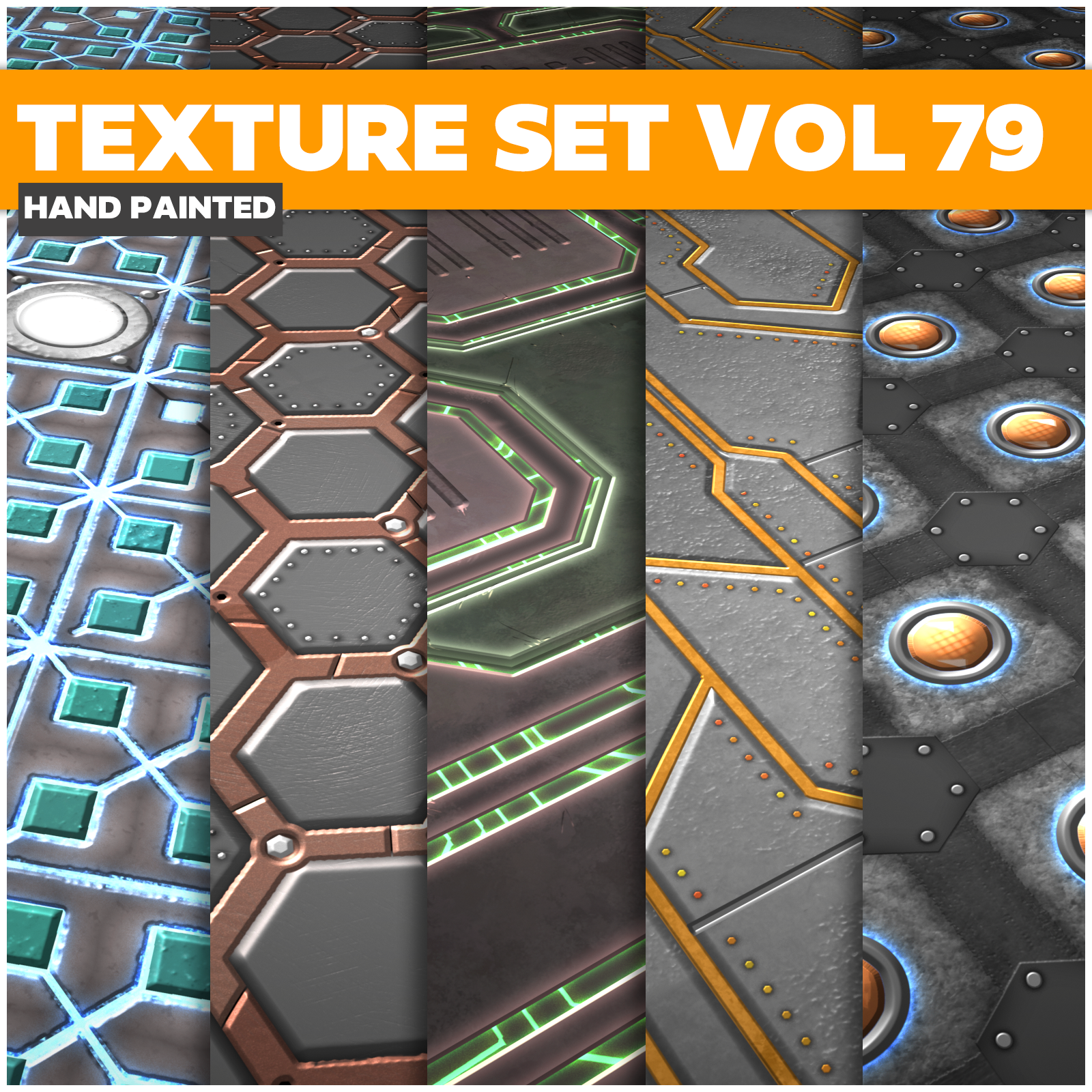 Scifi Vol.79 - Game PBR Textures - LowlyPoly
