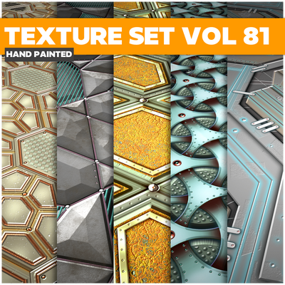 Scifi Vol.81 - Game PBR Textures - LowlyPoly