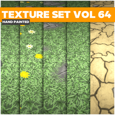 Grass Vol.64 - Game PBR Textures
