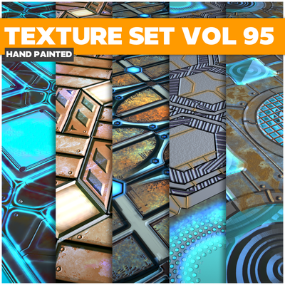 Scifi Vol.95 - Game PBR Textures - LowlyPoly