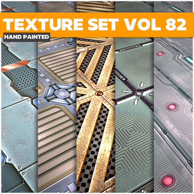 Scifi Vol.82 - Game PBR Textures - LowlyPoly