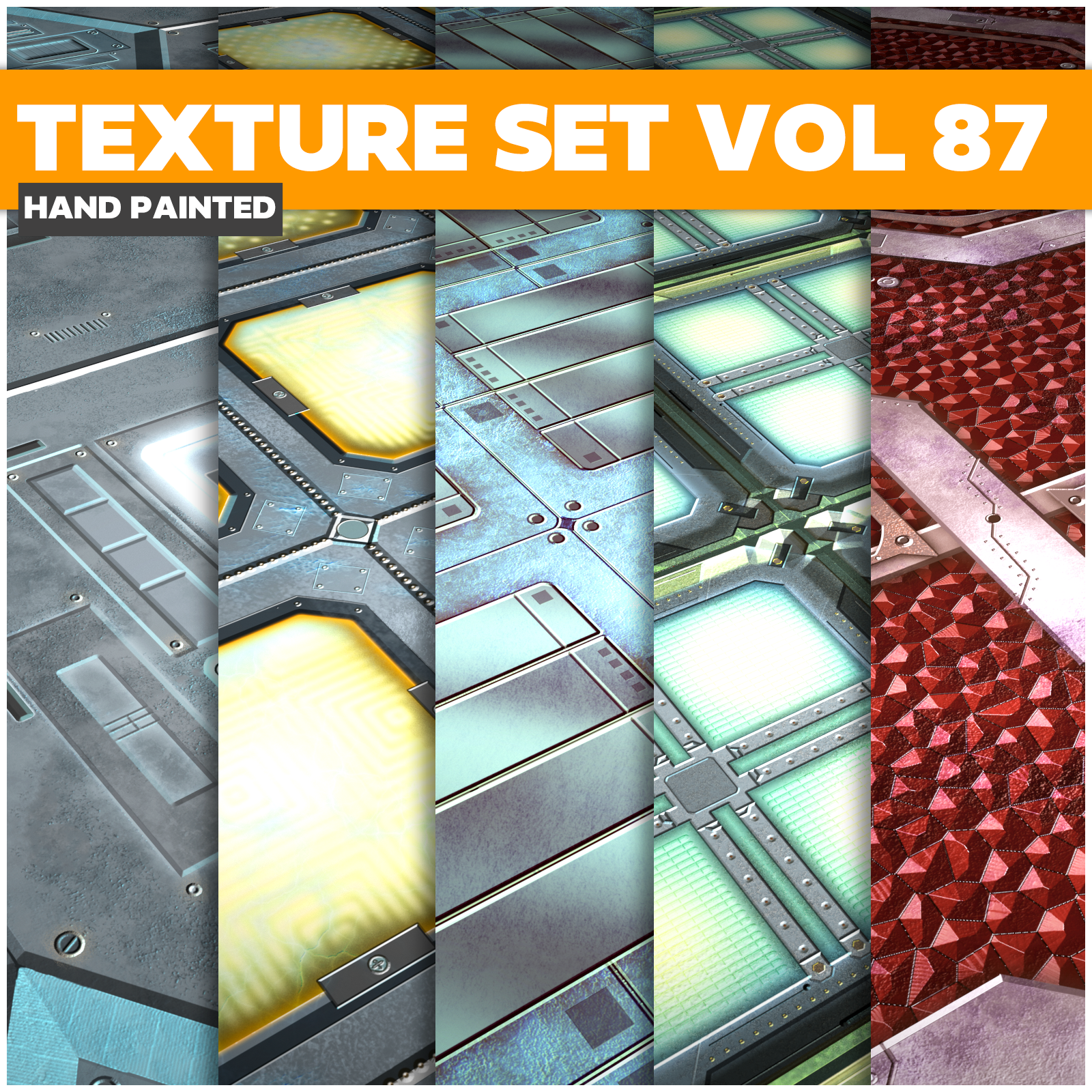 Scifi Vol.87 - Game PBR Textures - LowlyPoly