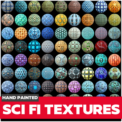 Scifi Textures Collection - LowlyPoly