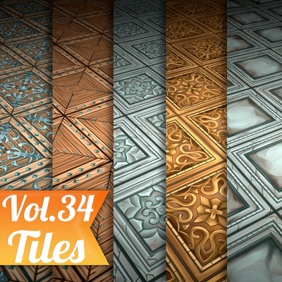 Tiles Vol.34 - Hand Painted Textures