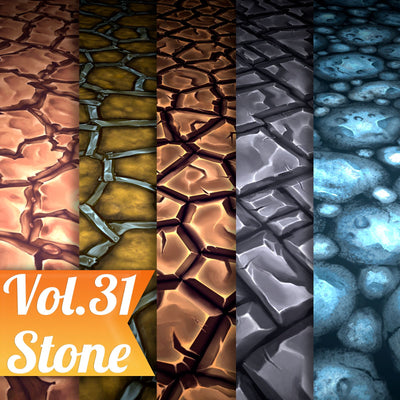 Stone Vol.31 - Hand Painted Texture - LowlyPoly