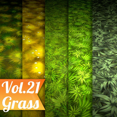 Grass Vol.21 - Hand Painted Texture Pack